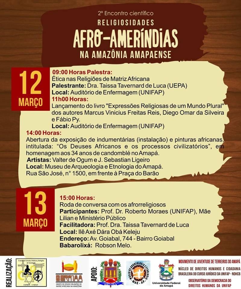 2° Encontro Científico de Religiosidades Afro-amerindias na Amazônia Amapaense
